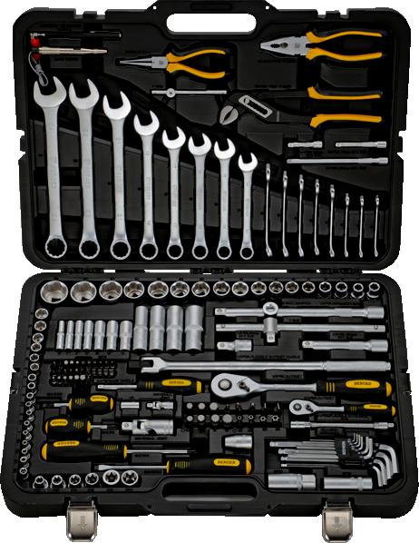 Набор инструментов унив. 151 пр. BERGER BG151-1214