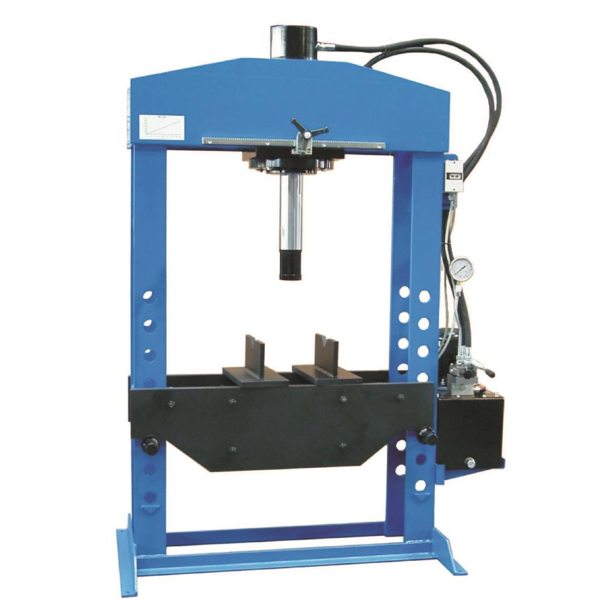 Пресс электрогидравлический напольный с подвижным цилиндром OMA667B (150 тонн)