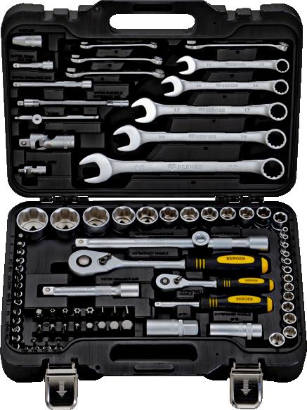 Набор инструментов унив. 82 пр. BERGER BG082-1214