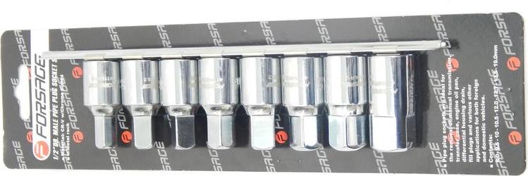 Набор головок для масляных пробок, квадрат (8-19мм) 8пр. (4118MR) Forsage