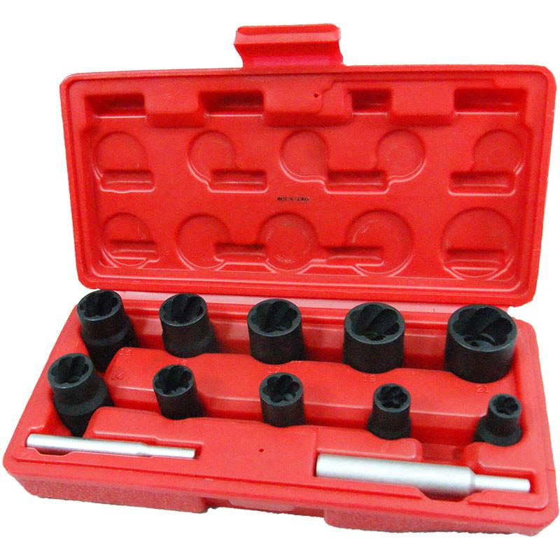 Набор головок экстракторов для поврежденных болтов, 08-21 мм (12 пр.) 109-30012C МАСТАК