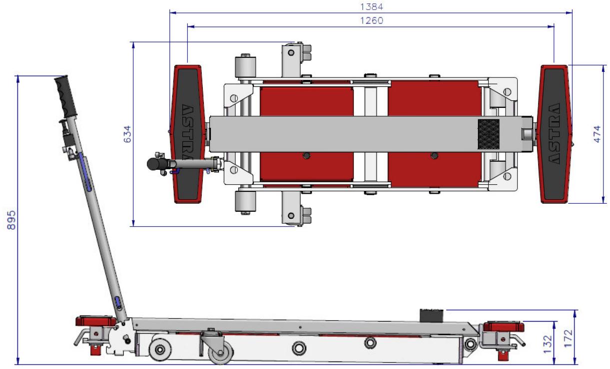 Подъемник ножничный пневматический, г/п 2,5 тонны ASTRA MINILIFT AE 100.1