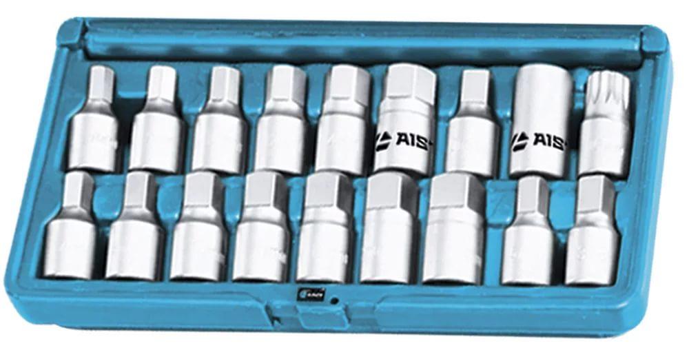 Набор головок для масляных пробок (18пр.) 67316025 Aist