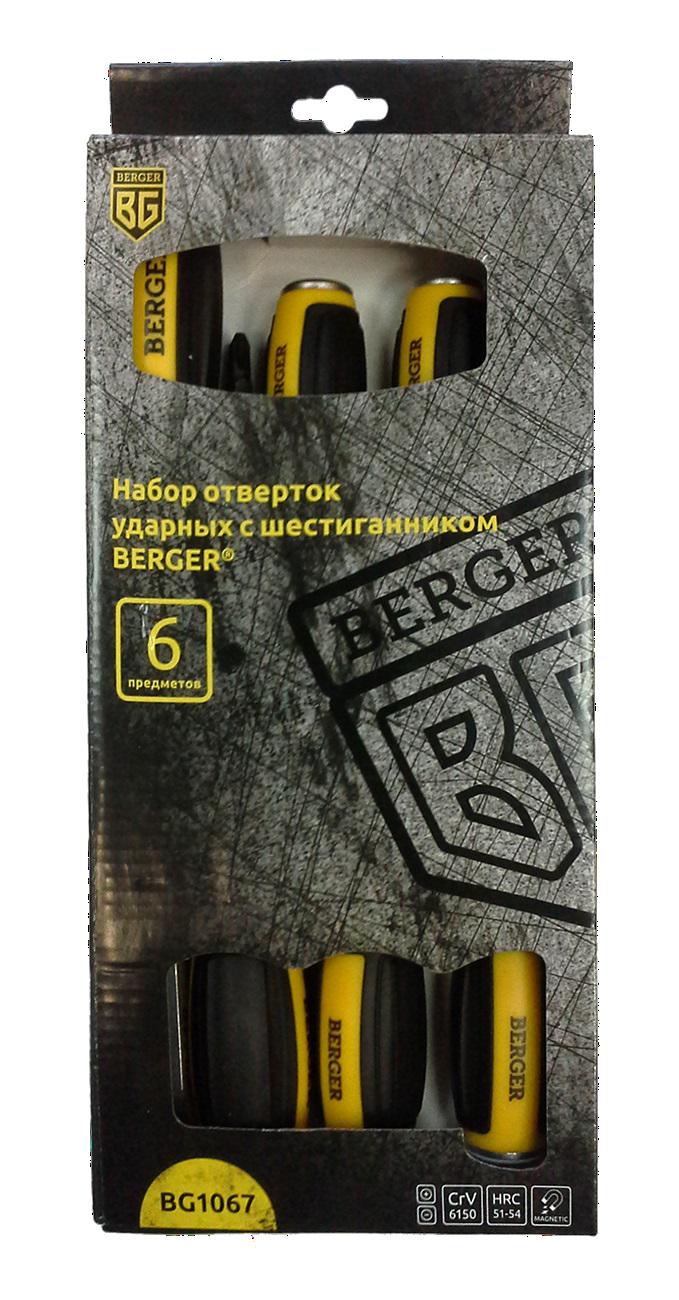 Набор отверток ударных 6 пр. BG1067 Berger