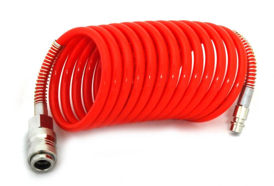 Шланг спиральный (папа/мама) L105/15, диаметр внутр./наружний (8х10), 5м