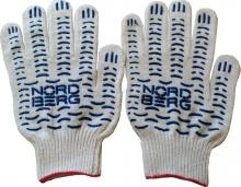 Перчатки рабочие, белые, хб (6 нитей, 10 класс) 150ТЕКС Nordberg
