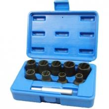 Набор головок экстракторов для поврежденных болтов, 10-19 мм (10 пр.) 109-30010C МАСТАК