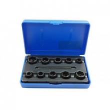 Набор головок экстракторов для поврежденных болтов, 09-19 мм (10 пр.) PA-7010A Partner