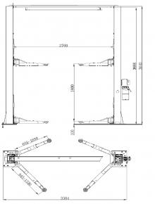 Подъемник гидравлический двухстоечный S4B-2