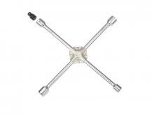 """Ключ баллонный крестовой 17х19х21х22 мм (усиленный) с адаптером 1/2"""" (681B400)"""
